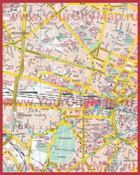 Подробная карта города Мюнхен