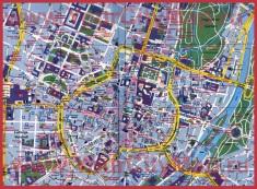 Туристическая карта центра Мюнхена с достопримечательностями