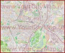 Подробная карта города Кассель