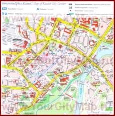 Туристическая карта Касселя с достопримечательностями