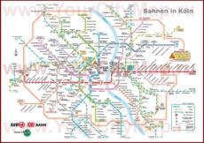 Карта метро Кёльна