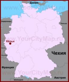 Кёльн на карте Германии