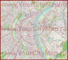 Подробная карта города Кёльн