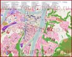 Туристическая карта Кобленца с отелями и достопримечательностями