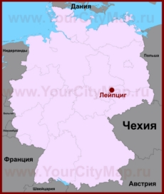 Лейпциг на карте Германии
