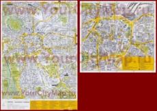 Туристическая карта Лейпцига с достопримечательностями