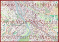 Подробная карта города Мангейм