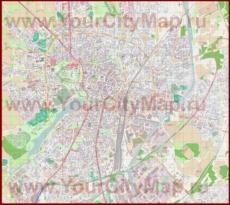 Подробная карта города Мюнстер
