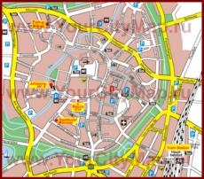 Туристическая карта Мюнстера с достопримечательностями
