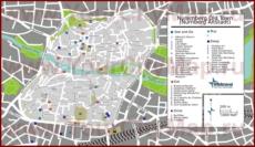 Карта Нюрнберга с отелями, достопримечательностями, ресторанами и барами