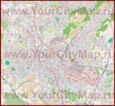 Подробная карта города Оснабрюк