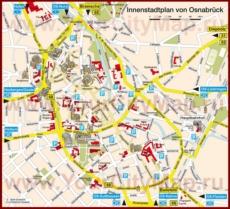 Туристическая карта Оснабрюка с достопримечательностями