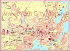 Карта Потсдама с достопримечательностями