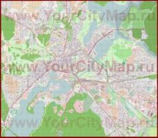 Подробная карта города Потсдам