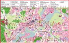 Туристическая карта Потсдама с отелями, достопримечательностями, ресторанами и барами