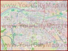 Подробная карта города Регенсбург