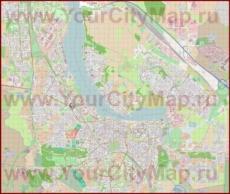 Подробная карта города Росток