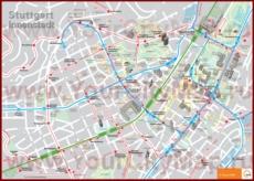 Карта Штутгарта с достопримечательностями