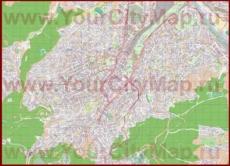 Подробная карта города Штутгарт