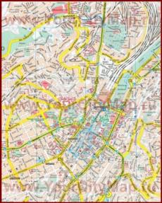 Туристическая карта Штутгарта
