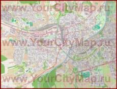 Подробная карта города Ульм