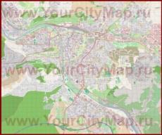 Подробная карта города Вюрцбург