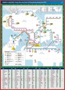Карта метро Гонконга с достопримечательностями