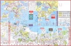 Подробная туристическая карта Гонконга
