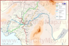 Карта метро Афин
