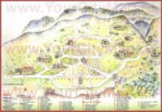 Туристическая карта Дельф с отелями и достопримечательностями