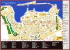 Карта старого города Ханья с достопримечательностями