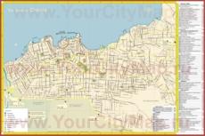 Подробная карта города Ханья с достопримечательностями