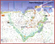 Туристическая карта Ираклиона на русском языке