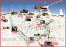 Туристическая карта Ираклиона с отелями и достопримечательностями