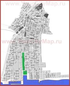 Подробная карта города Каламата
