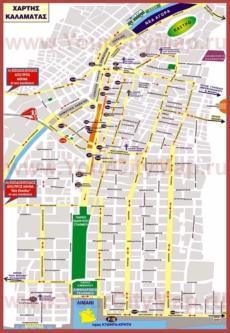 Туристическая карта Каламаты