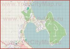 Подробная карта города Кастория