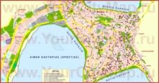 Туристическая карта Кастории