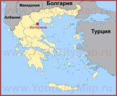 Катерини на карте Греции