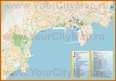 Подробная туристическая карта города Кавала