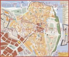 Туристическая карта города Керкира