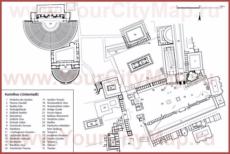 Карта Акрокоринфа (Древний Коринф)