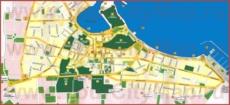 Подробная туристическая карта города Кос