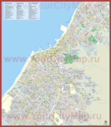 Подробная туристическая карта Патры с достопримечательностями