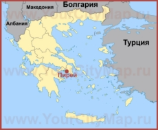 Пирей на карте Греции