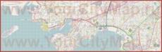 Подробная карта города Пирей