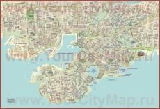 Подробная карта порта Пирей