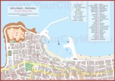 Туристическая карта Ретимно с достопримечательностями