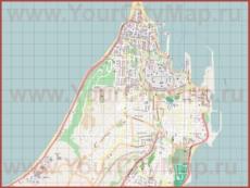 Подробная карта города Родос