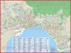 Подробная туристическая карта Салоников с достопримечательностями